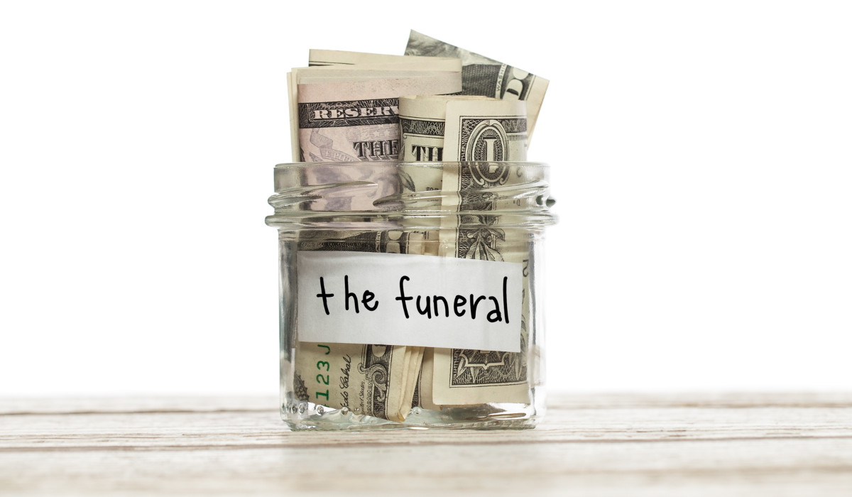 The costs of a funeral.